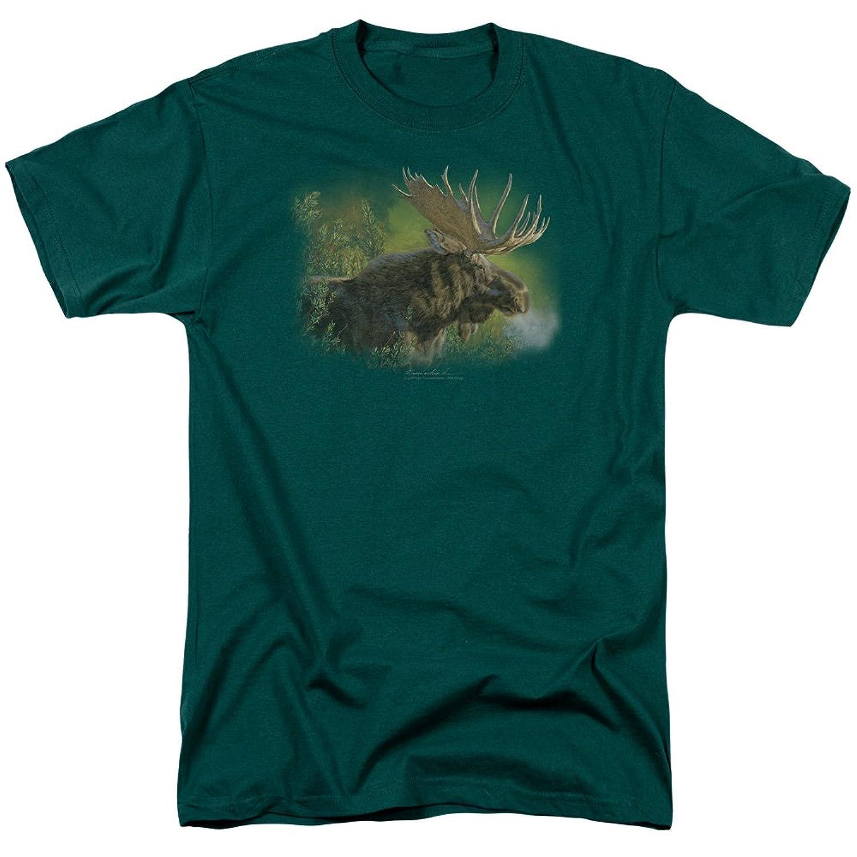 Wildlife Wild Animals Nature A Moose's Crisp Fall Morning Adult T-Shirt