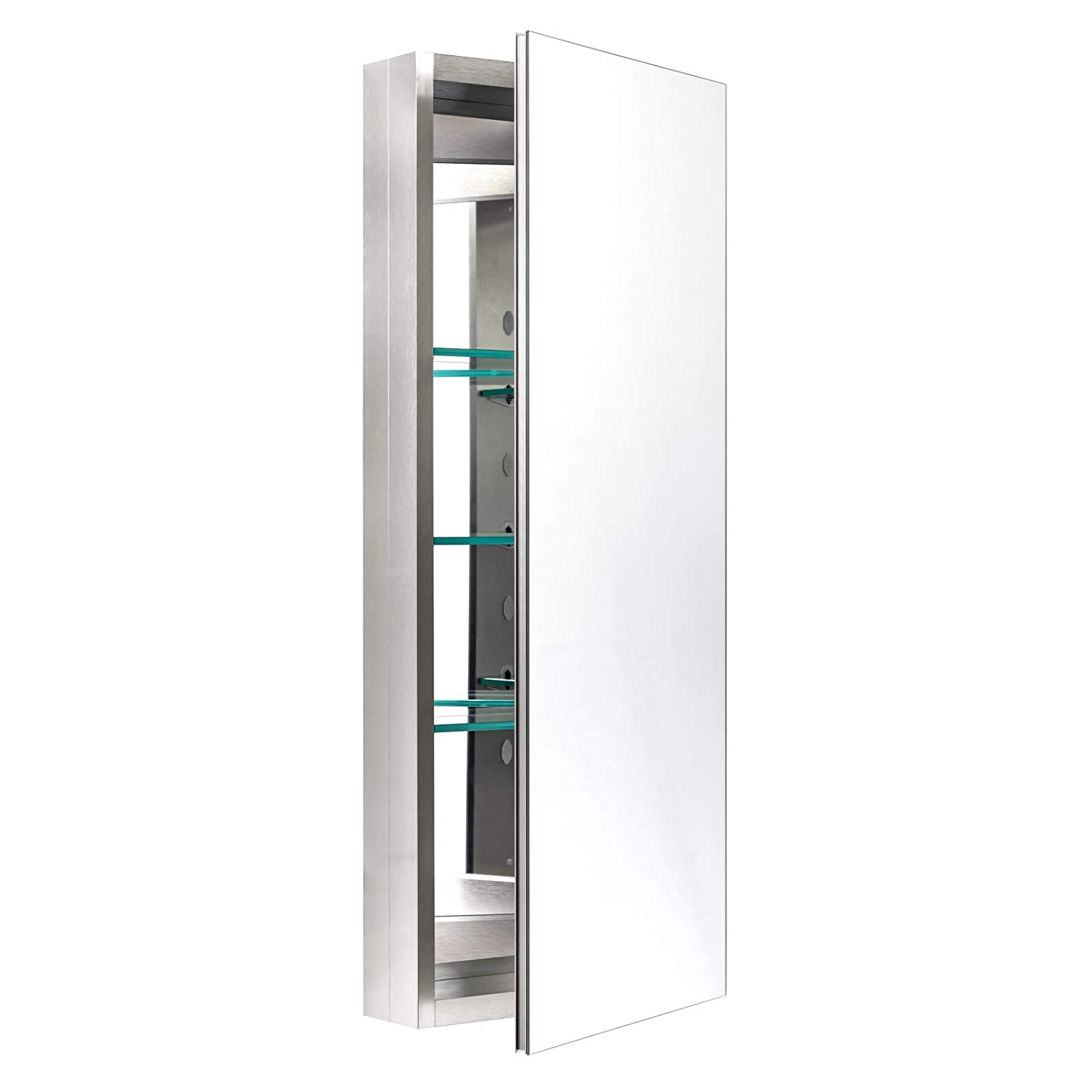 Miseno MBC3615-BN Dual Mount 36 H X 15 W Medicine Cabinet Surface or Recessed Mounting