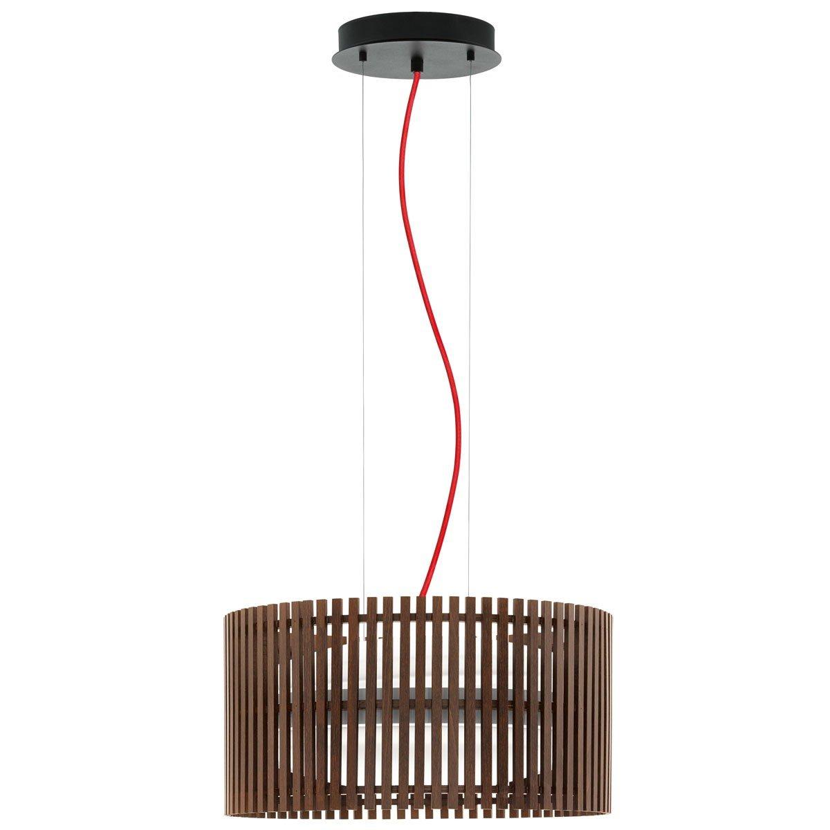 EGLO 94011 ROVERATO DARK WOODEN PENDANT LAMP