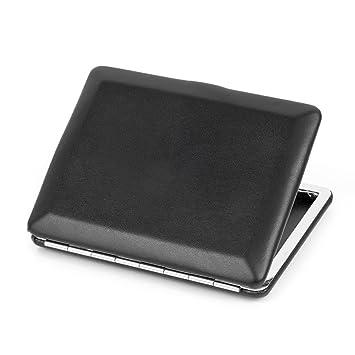 Amazon.com: Ultra fina Plain caja de piel metal Caso de ...