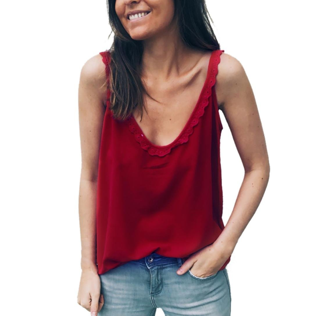 DEELIN Fashion Women Strappy Ruffles Sexy V Neck Sleeveless Cute Summer Slim Button Crop Tunic Blouse Top Tank Vest