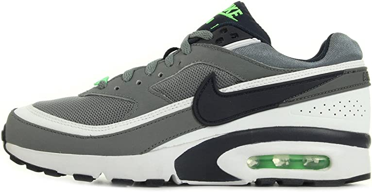 Nike Air MAX BW (GS), Zapatillas de Running para Niños, Gris/Negro/Blanco (Cool Grey/Obsdn-White-Vltg Grn), 36 EU: Amazon.es: Zapatos y complementos