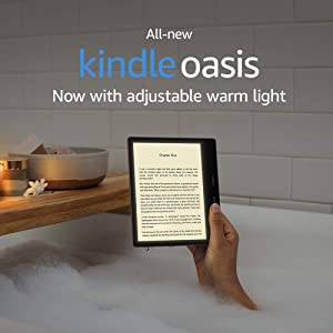 Certified Refurbished Kindle Oasis - Now with adjustable warm light - Wi-Fi + Free Cellular Connectivity, 32 GB, Graphite