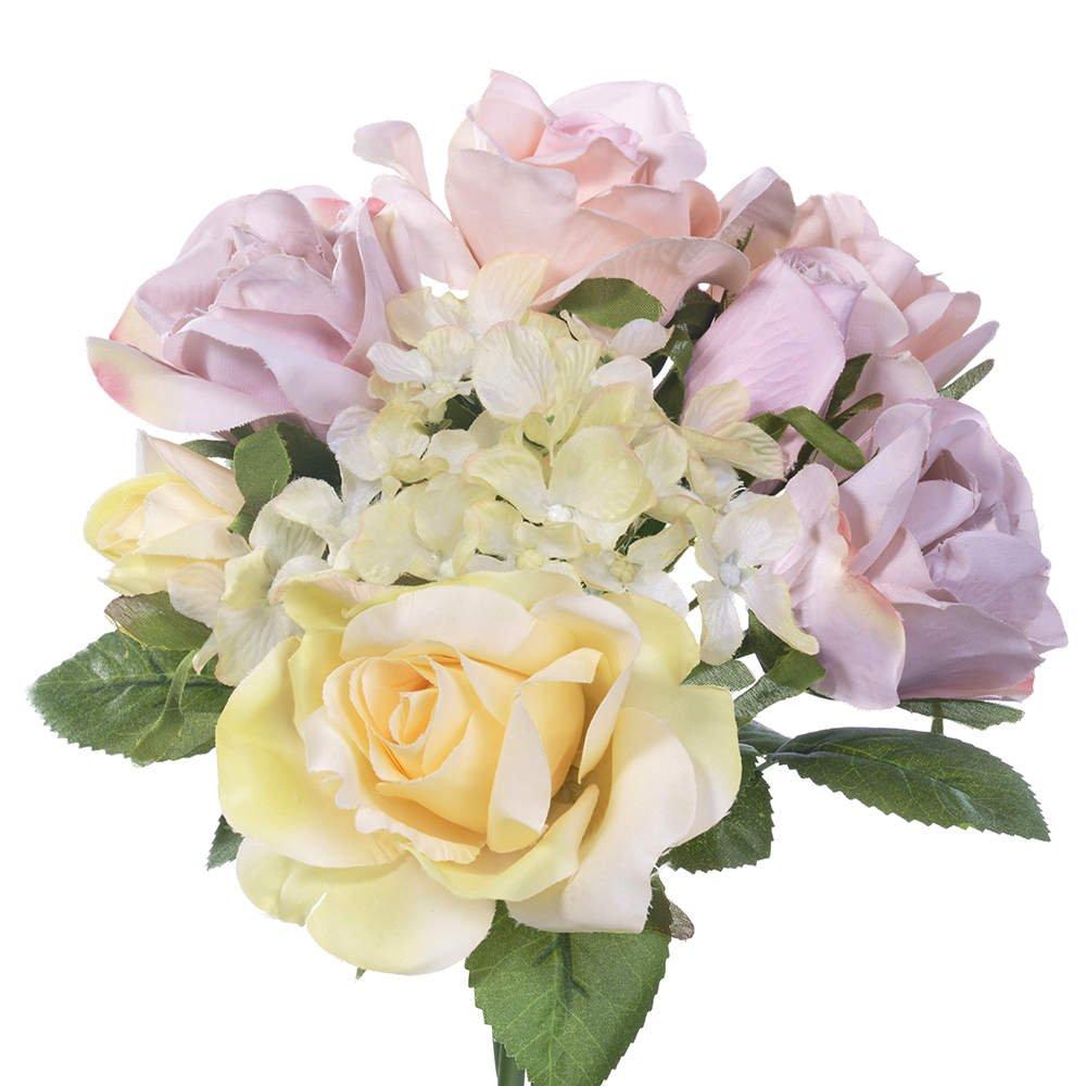 Artificial Flowersfake Flowers Silk 6 Heads Plastic Roses Wedding