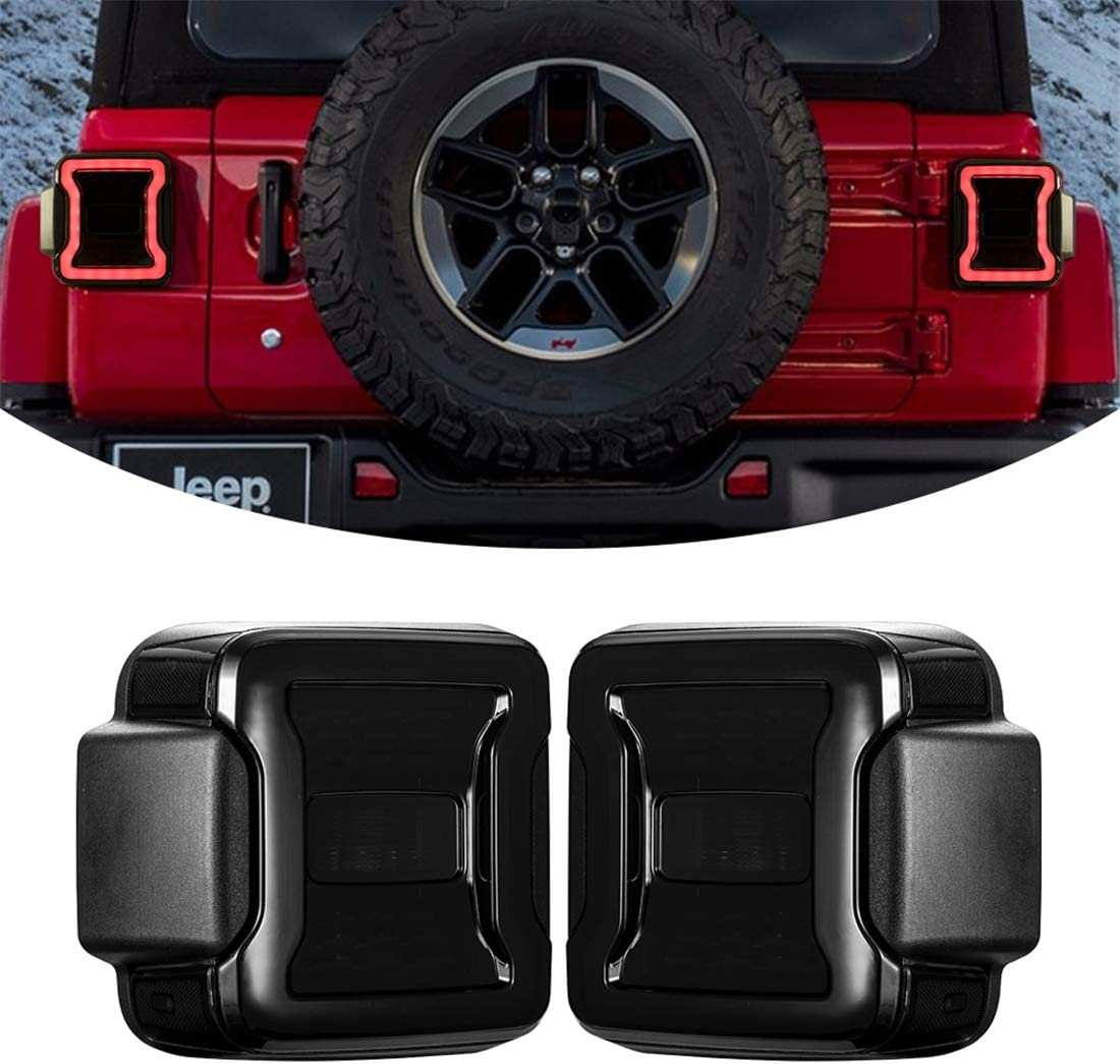 Black Housing Smoke Lens KIWI MASTER Smoked LED Tail Lights /& 3rd Brake Light Set for 2018 2019 Jeep Wrangler JL Accessories Third Brake Light High Mount Stop Light Reverse Light Turn Signal Light