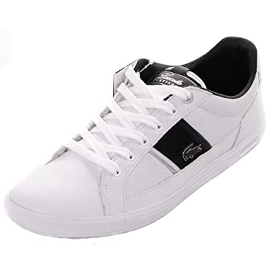 675b5349a71a Lacoste Europa Lace Leather Trainers - White UK9.5  Amazon.co.uk ...