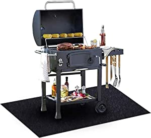 Under The Grill Mat, (39 x 84 inches) ,BBQ Grilling Gear Gas Electric Grill – Use This Absorbent Grill Pad Floor Mat to Protect Decks Patios from Grease Splatter and Other Messes Or For Welping Box