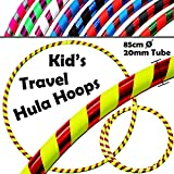 KID's HULA HOOPS - Quality Weighted Children's Hula Hoops! Great For Exercise, Dance, Fitness & FUN! NO Instructions needed! Same Day Dispatch! (UV Yellow / Red Glitter)