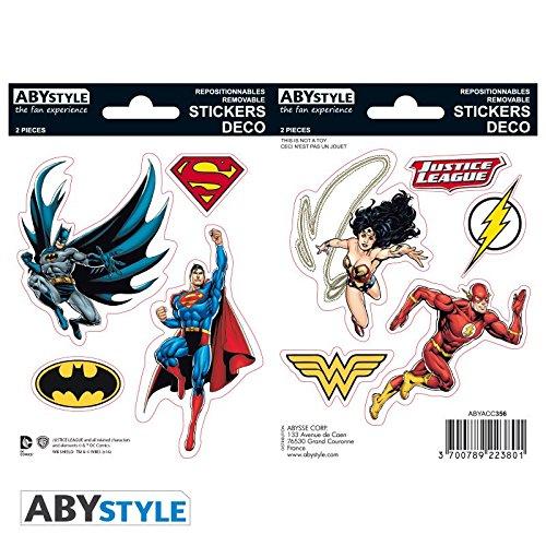 Stickers La liga de la justicia. Personajes y logos. DC comics Vistoenpantalla PS7241