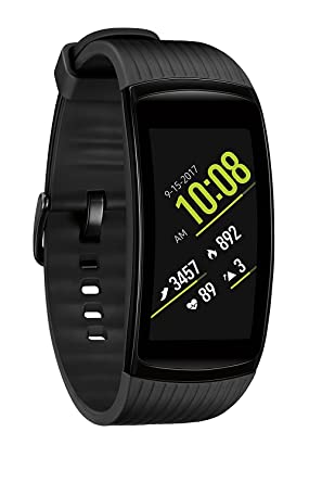 Samsung Gear Fit2 Pro Fitness Smartwatch (Large) - Black (Renewed)
