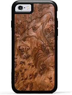 product image for iPhone 6 / 6s Redwood Burl Wood Traveler Case by Carved, Unique Real Wooden Phone Cover (Rubber Bumper, Fits Apple iPhone 6 / 6s)