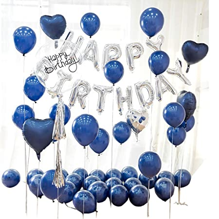 XUZgang Paquete de Globos Azules, Decoración de cumpleaños ...