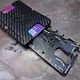 MultiWallet 2 Large Toolcard Edition. Holstex Tactical Wallet Carbon Fiber Texture. Multi tool and money clip.