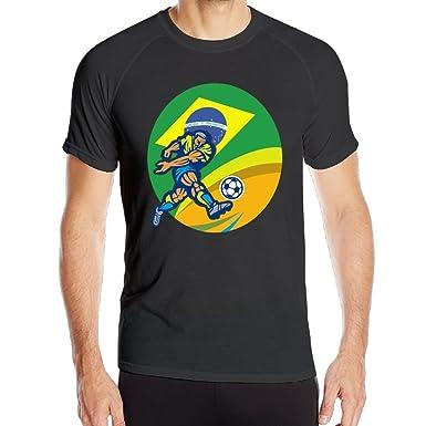 ATHLETIC camiseta para hombre Player Kicking Balón de fútbol ...