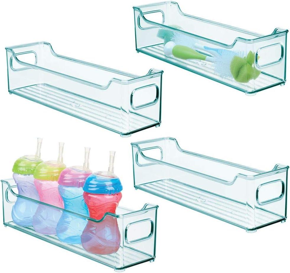 blau mDesign 2er-Set Kinderzimmer Organizer Windeln Stofftiere /& Co gro/ße Sortierbox mit praktischen Griffen BPA-freier Kunststoffbeh/älter f/ür Spielzeug