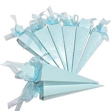 Amazoncom 50pcs White Diamante Confetti Cone Favour Boxes Party