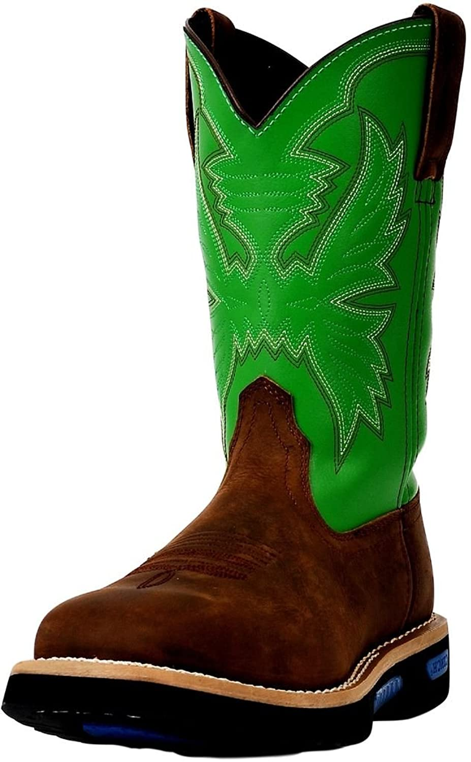 Cinch Men's WRX Square Toe Work Boots Pull-On Cowhide Leather WXM141