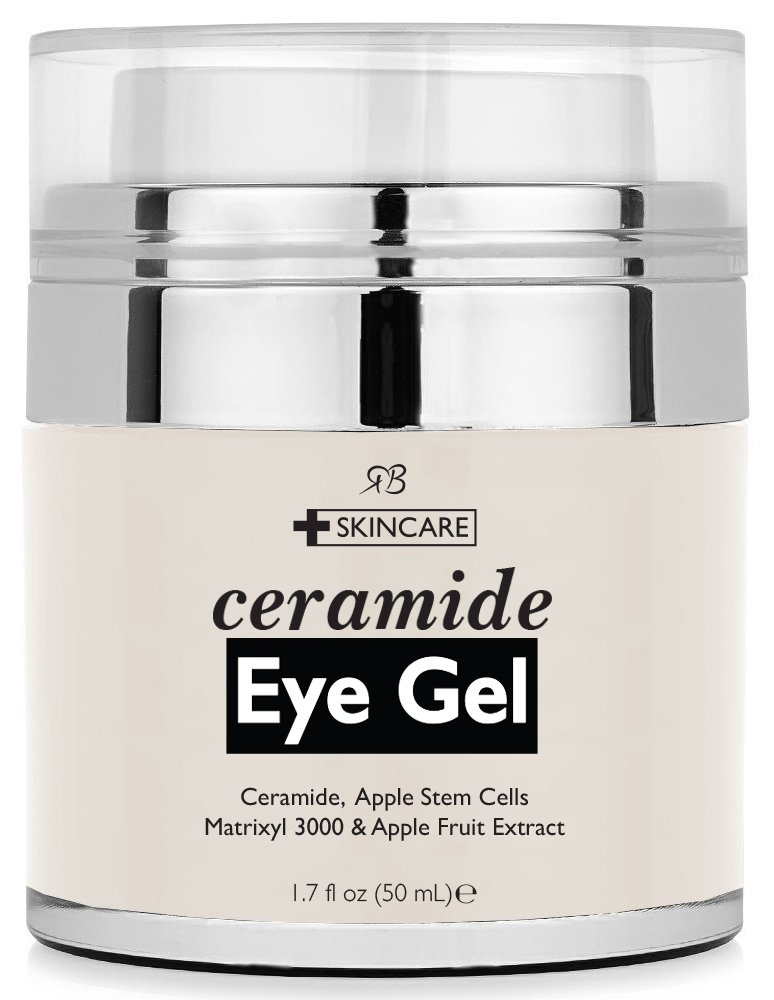 Radha Beauty Ceramide Eye Gel for Puffiness, Dark Circles, Wrinkles and Bags - 1.7 fl oz