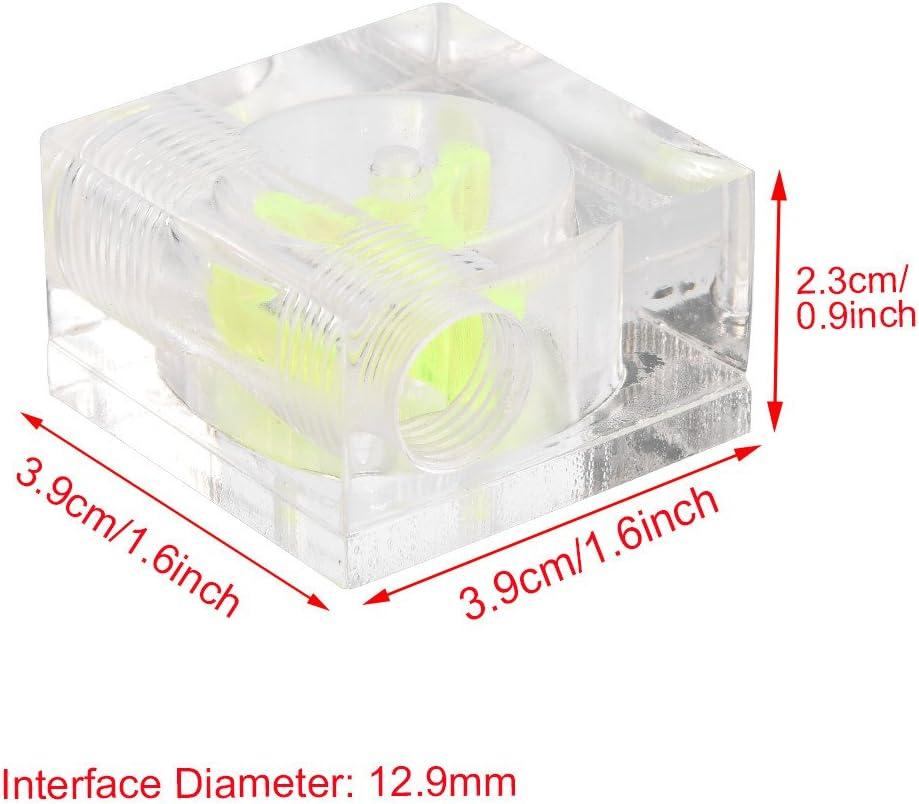 Fishlor Flow Meter 3 Impeller Water Cooler Flow Meter Indicator for PC Water Cooling System G1//4 Thread Water Cooling Kit 方形三通道