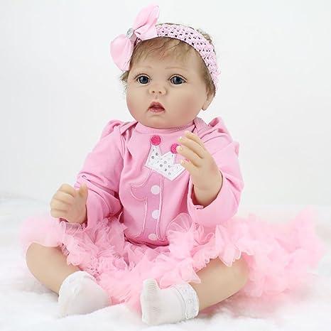 9ad750986bcf6 ZIYIUI Bambola Reborn Baby 22 pollici 55 centimetri Morbido silicone  vinilico Realistico Bambole reborn femmine Giocattoli