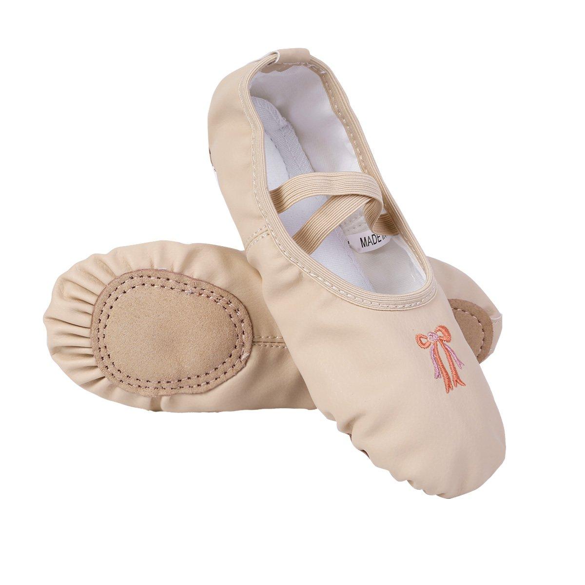 CHICTRY Zapatillas de Ballet Danza para Niña Transpirable Zapatos Clásico Zapatillas de Bailarina Gimnasia Niña Ligero Plegable