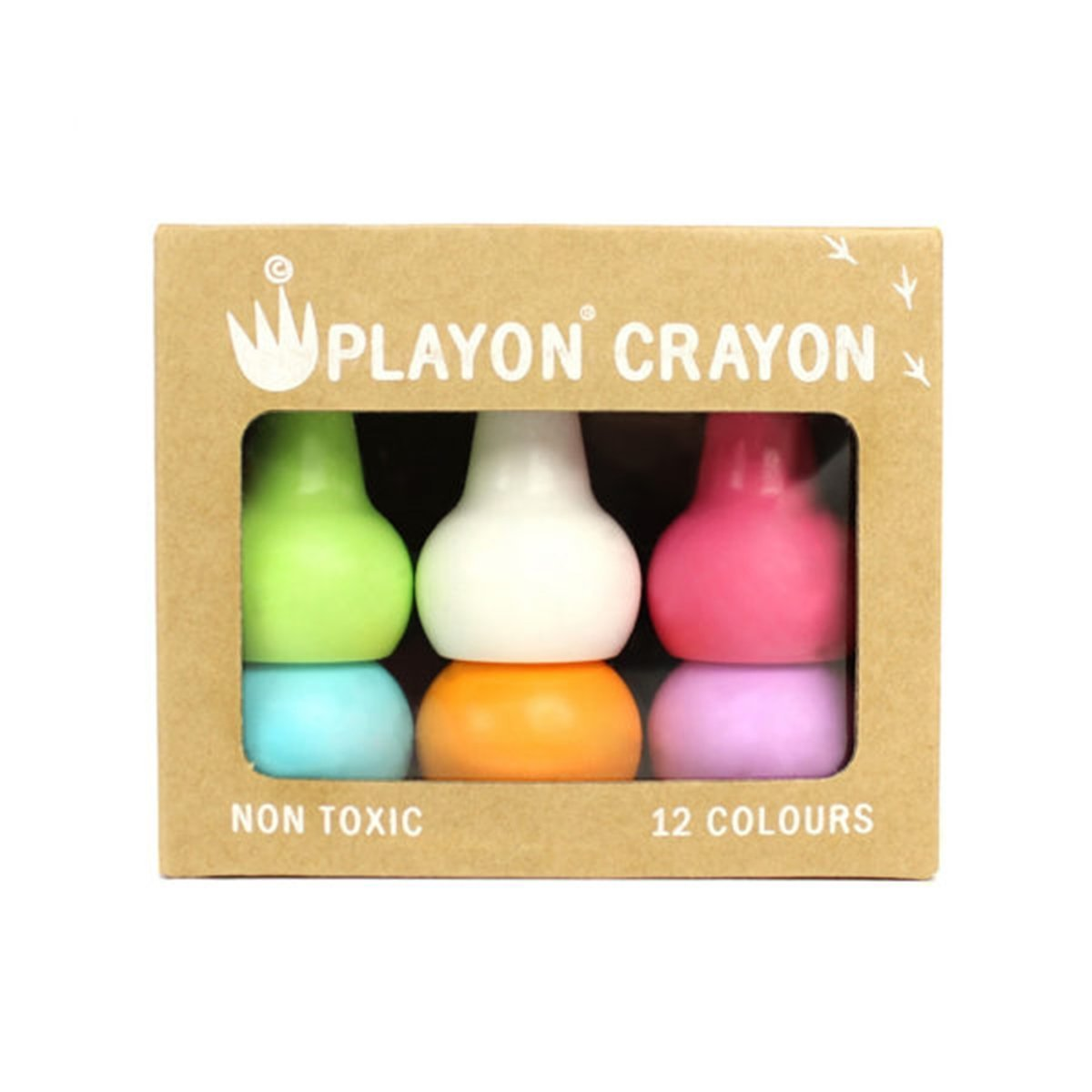 Non-Toxic Toddler Crayons - Easy to Hold & Stackable - Pastel Color Set IPPINKA