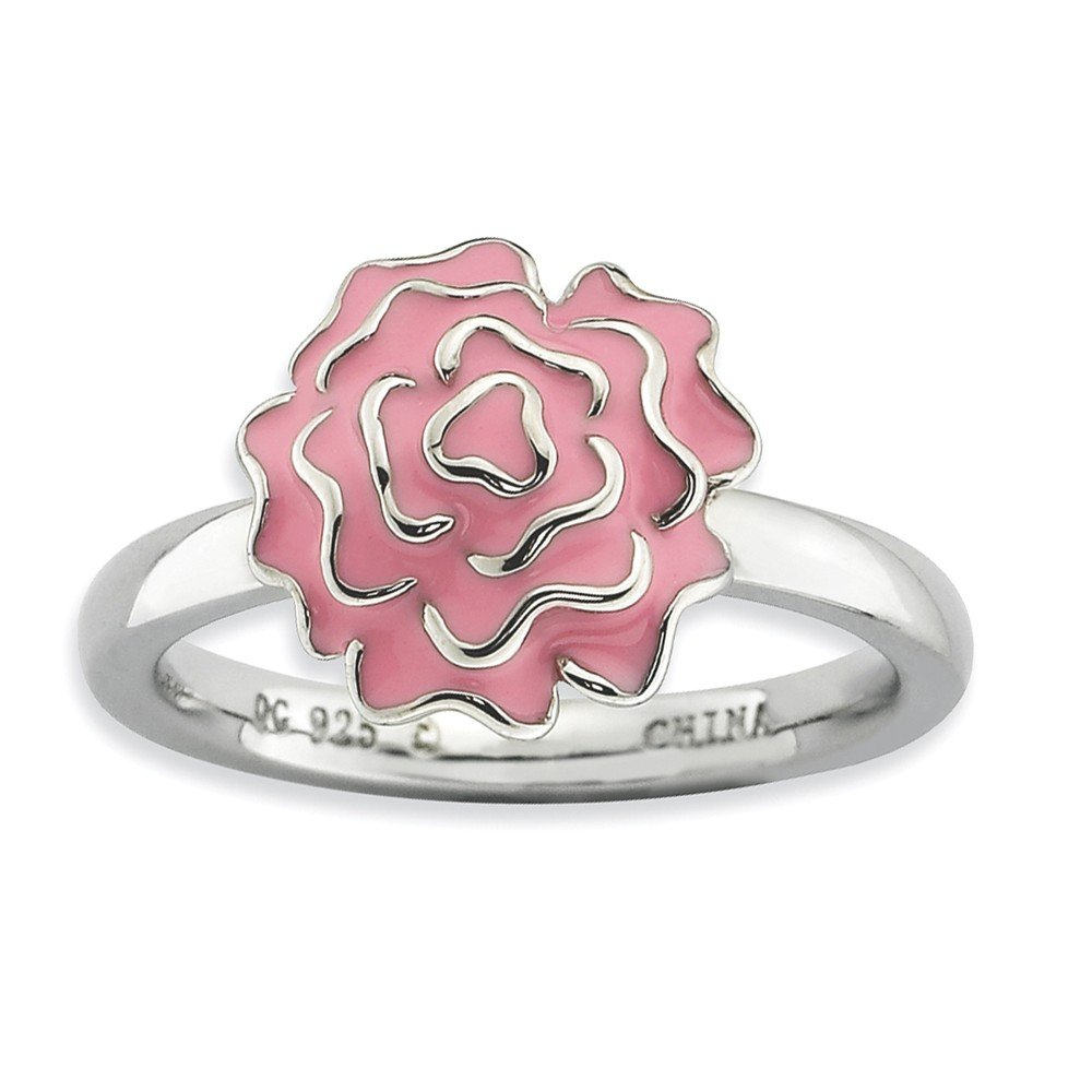 Amazon.com: Sterling Silver Carnation Ring by Stackable Expressions ...