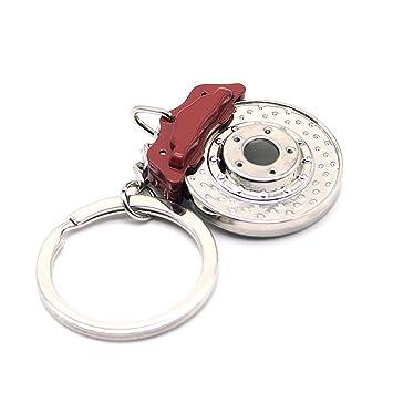 waterwood Creative Auto partes Modelos Spinning Racing Discos de Freno Llavero Cadena ring-red con paño limpio
