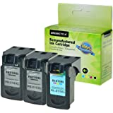GREENCYCLE High Yield PG-210 CL-211 Remanufactured Ink Cartridge PG-210XL CL-211XL Black and Tri-color Set - Black,2 Pack and Color,1 Pack
