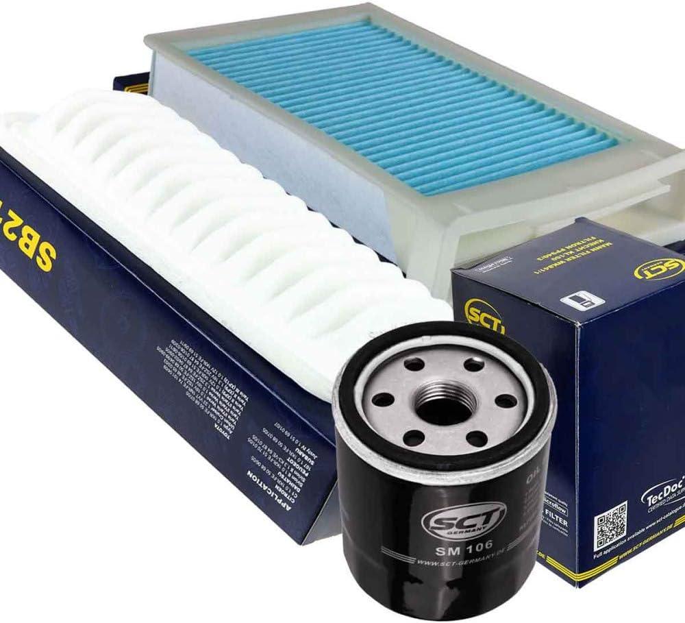 /Ölfilter SM 106 Innenraumfilter SB 2175 INSPEKTIONSPAKET Luftfilter SA 1253 von SCT GERMANY