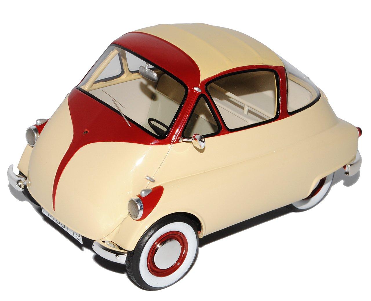 Schuco Iso Isetta Beige Rot 1/18 Modell Auto