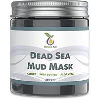 Gezichtsmasker met modder uit de Dode Zee 250g, biologisch en veganistisch - Werkt tegen puistjes, mee-eters en acne…