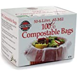Norpro 100% Compostable Bags, 50 Count (870) , Grey