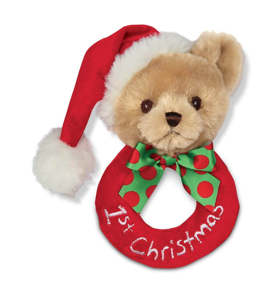 baby bear rattle, baby's first christmas