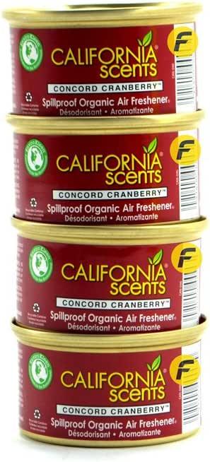 Amazon.es: California Car Scents Concord Cranberry (Pack de 4)