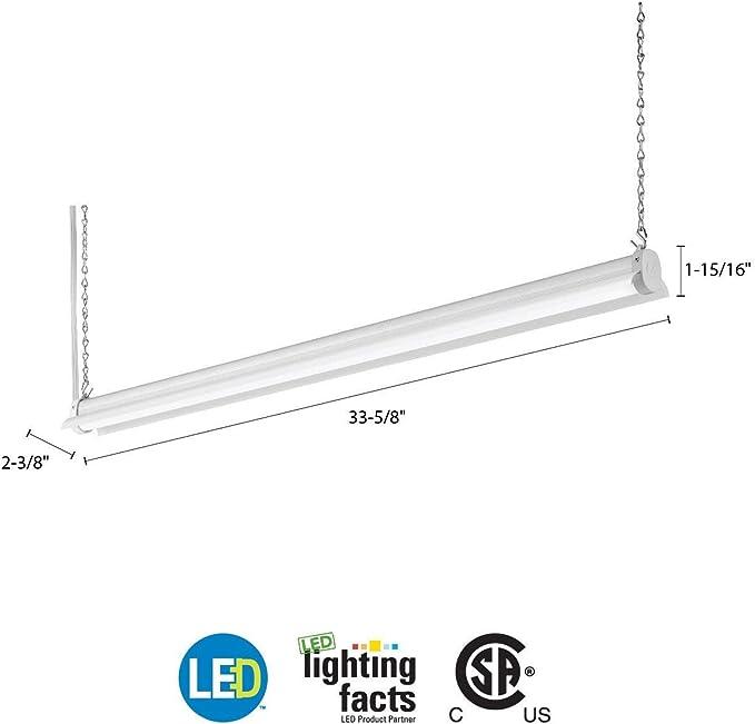 "Lithonia Lighting 36/"" 40K 80CRI DNA LED Shop Light 32 Watts 3000 Lumens"