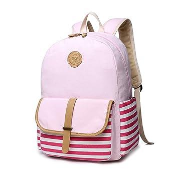 a2deb271228e ELA French Breton Nautical Striped Backpack Rucksack Marine Sailor Navy  Stripy School Bags Teenager Girls (