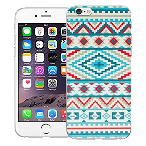 """Mobile Case Mate iPhone 6 4.7"""" Silicone Coque couverture case cover Pare-chocs + STYLET - Green Aztec pattern (SILICON)"""