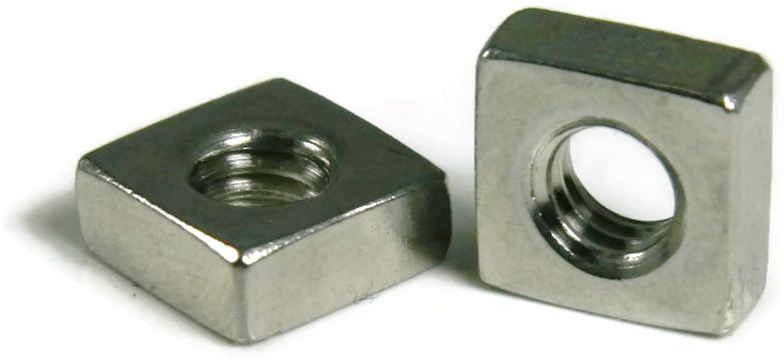 Square Nut 18-8 Stainless Steel - 1/4-20 Qty-100