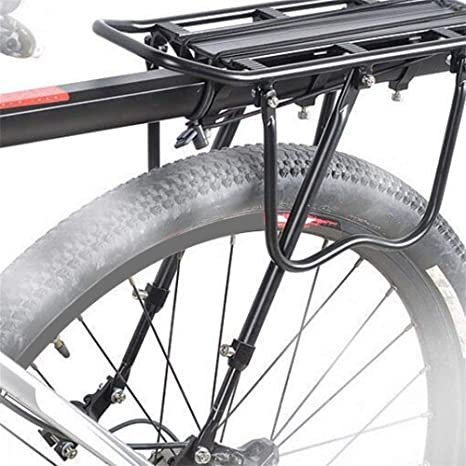Schwarz Erduo MTB Fahrradhecktr/äger Sattelst/ützenhalter Gep/äcktr/äger 25kg Last-Schnellwechsel-Fahrradhecktr/äger mit Reflektor