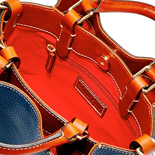 Bourke Barlow Grain Top Handle Midnight Bag Pebble Mini amp; Blue Dooney 5qwxHOfq