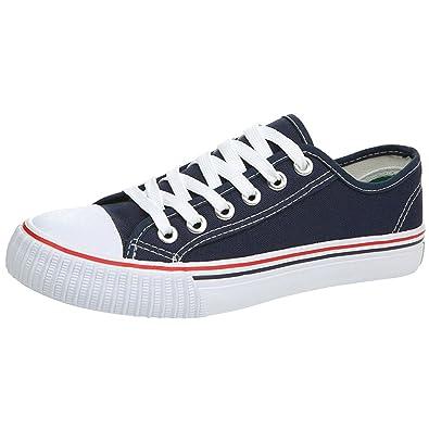 04cdcb8df8de Mauea Basket Mode en Toile Classique Sneakers Basse Chaussure Tennis  Décontracté Confort Homme Taille 38-