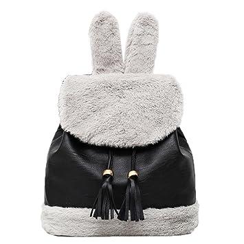 DDLBiz - Mochilas de peluche para mujer, mochilas de conejo, mochilas: Amazon.es: Hogar