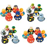 24 Rubber Ducks Superhero & Villian Rubber Ducks, Perfect Birthday Party Favors, Cake Toppers, Prizes