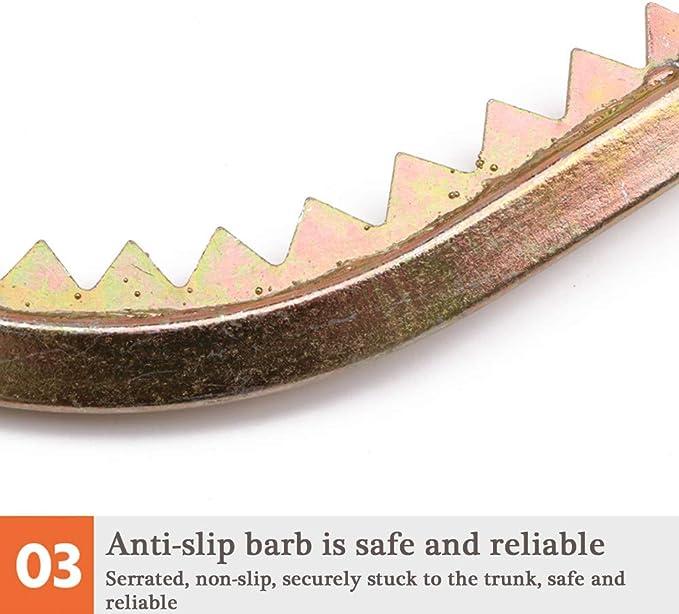 Grimper Arbre Artefact la Cueillette de Fruits pour LObservation de la Chasse Simple /à Utiliser,350Model Griffe Elagage Pointes dArbres Grimpantes Antid/éRapantes