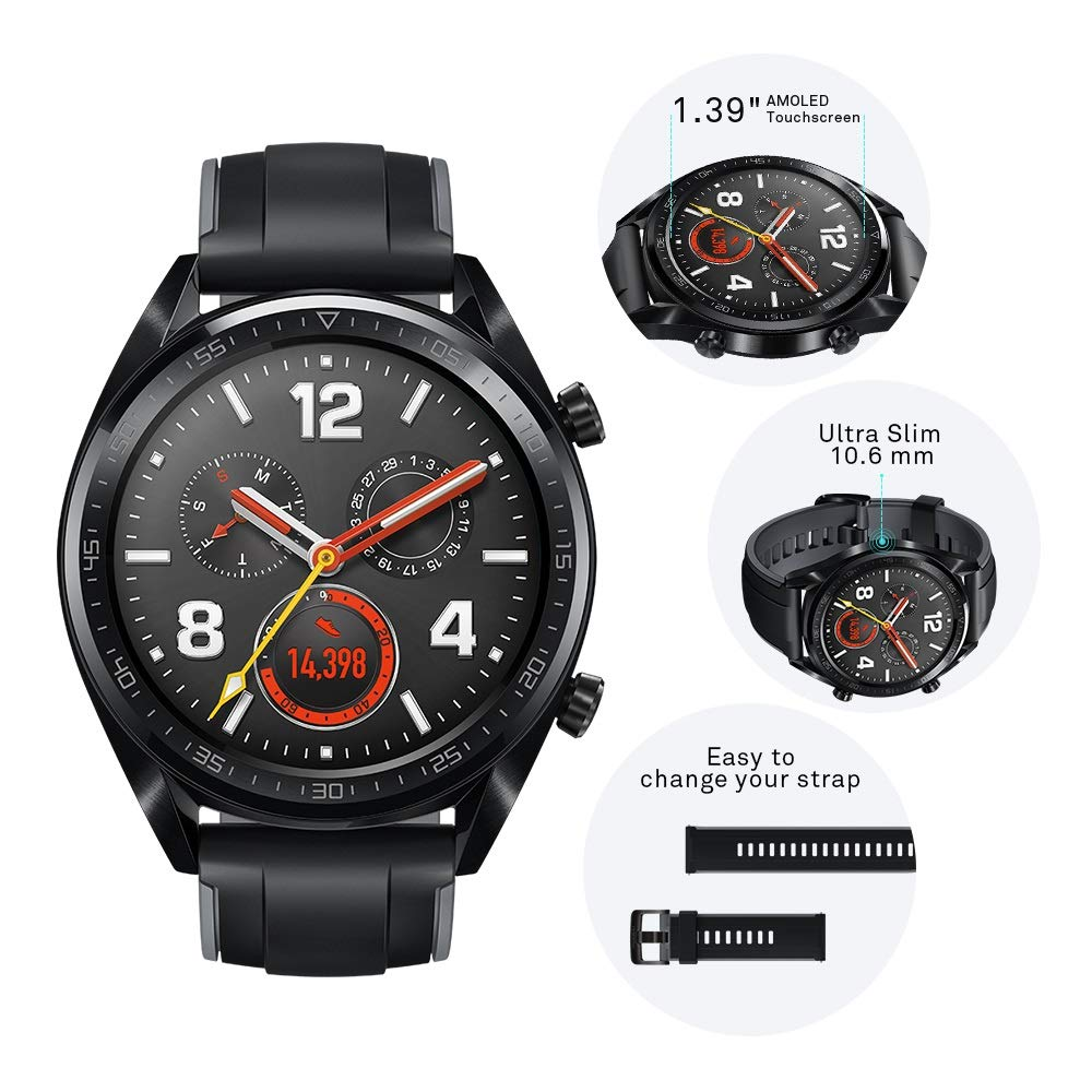 HUAWEI Watch GT Sport - GPS Smartwatch with 1.39
