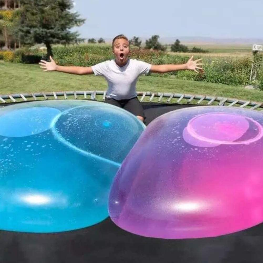 XENFSKW Outdoor Play Toys For Children 2 Pack Bubble Balls Toy Bounce Inflatable Tear-resistant Play Super Kids Random Color Medium