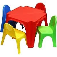 Starplast Childrens Plastic Table and 4 Chairs Set