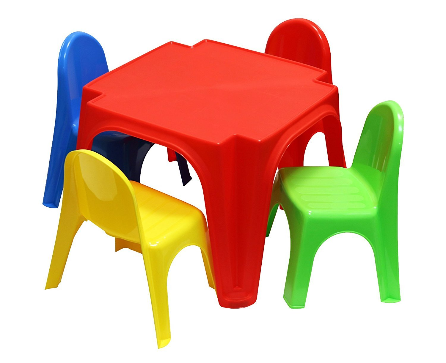 Starplast Childrens Plastic Table and 4 Chairs Set