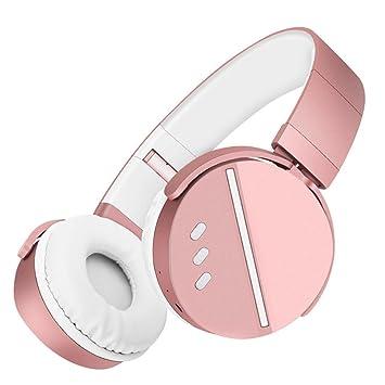 Pondkoo Bluetooth V4.1 HIFI - Auriculares de diadema plegables con micrófono, fácil de